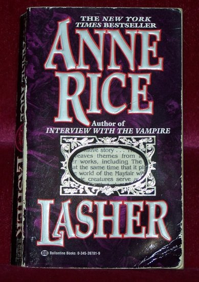 Lasher by Anne Rice FREE Shipping to US