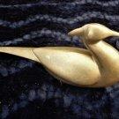 Vintage Brass Mid Century Modern Swan