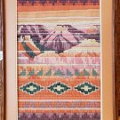 Embroidered Southwestern Mountain Scene Picture