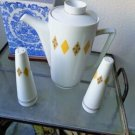 Vintage Mid Century Modern Mikasa Carafe, Salt and Pepper Set