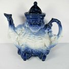 Vintage Toby The Fat Man Judge Flow Blue Teapot