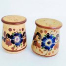 Tonala Pottery Cobalt Blue Flower Salt & Pepper Shaker