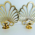 Vintage Brass Mid-Century Modern Pair Of Wall Sconces