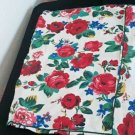 Vintage 1970's Handmade Floral Pillowcase Set
