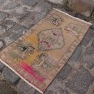 1960 Turkish Bohemian Wool Handknotted Rug
