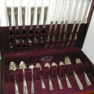 Vintage 1939  Nobility Silverplate Silverware Flatware Set Caprice Pattern 44Pcs