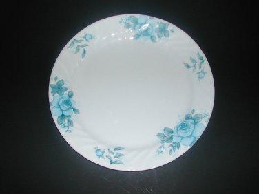 """Corning Ware By Corelle Blue Velvet Rose 10"""" Dinner Plate"""