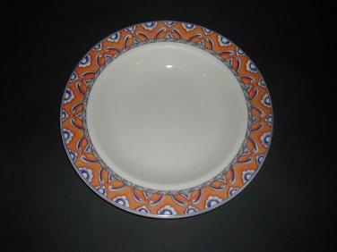 "Homer Laughlin SAN REMO Pasta Serving Bowl 11 1/8"" Blue Orange"