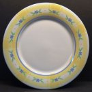 """Pfaltzgraff Summer Breeze 10"""" Dinner Plate Yellow & Blue Clover Flowers"""