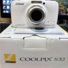 Nikon COOLPIX S32 13.2MP Digital Camera - White