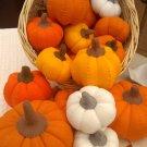 Hand Sewn Wool Felt Small Pumpkin | Play Food