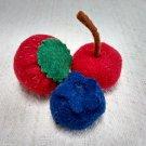 Hand Sewn Wool Felt 3 Berries | Play Food