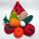 Hand Sewn Wool Felt 3 Fruits or Vegetables Discount | Play Food