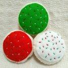 Hand Sewn Wool Felt Christmas Cookies | Play Food