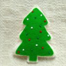 Hand Sewn Wool Felt Christmas Tree Cookie | Play Food