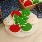 Hand Sewn Wool Felt 4 Christmas Cookies Discount | Play Food