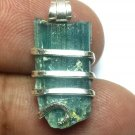 11.90 Carats Natural Paraiba Tourmaline Crystal in Silver Wire wrap Art