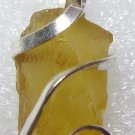 7.60 ct Citrine Shard in Hand Forged Sterling Silver Pendant Necklace