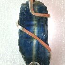 28 ct Blue Kyanite Shard in Hand Forged Sterling Silver Pendant / Necklace