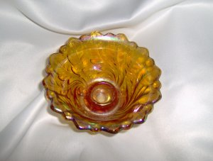 Candle Holder Carnival Glass