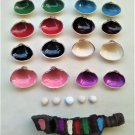 Memory game of 16, hand-painted, seashells, Mactra Stultorum and Parvicardium Scriptum (016)