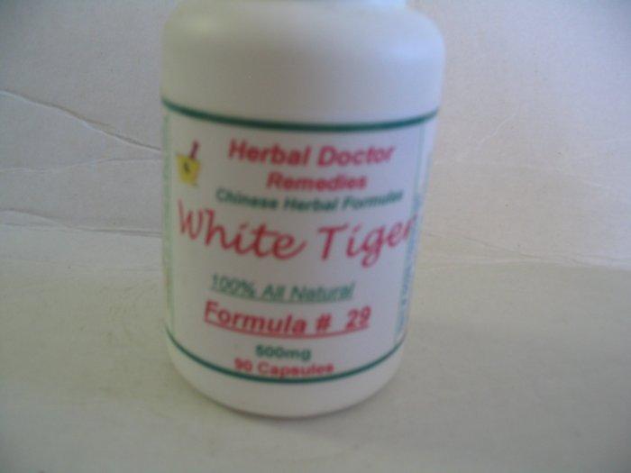 White Tiger # 29 90 Caps