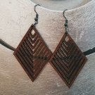 2pcs/lot dangle/wire-hook type wooden earrings (55mm x 40mm)
