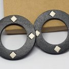 2pcs/lot stud type wooden color earrings (diam: 50mm)