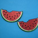 2 pcs Self-adhesive sticker embroidered patch Watermelon