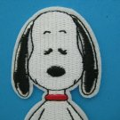 3 x Iron-on/ Sew-on embroidered Patch Snoopy in Meditation yoga mindfulness