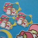 Mixed Lot 15 pcs Iron-on Embroidered Patch Little Twin Stars Angel Kiki Lala