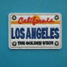 """5 x iron-on Embroidered Patch LA Los Angeles California car vehicle plate  2.75"""""""