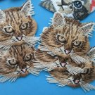 sale Mixed Lot 12 pcs Iron-on Embroidered Patch Cute Lovely Cats face head
