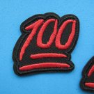6 x Iron-on/ sew-on embroidered Patch Full Score marks 100 Perfect