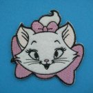 5 x Iron-on/ Sew-on embroidered Patch applique Marie cat cartoon character pink