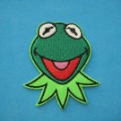 3 x Iron-on embroidered Patch applique Muppets Kermit frog green Sesame Street