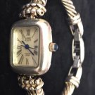 VINTAGE ANNE KLEIN WOMEN WRIST WATCH BRACELET STERLING SILVER 753S Swiss Mvt 12/6187