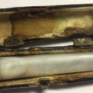 ANTIQUE CIGARETTE HOLDER 14K SOLID ROSE GOLD MOTHER OF PEARL IN BOX 19C FRANCE