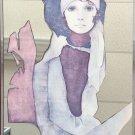 VINTAGE CHRISTINE ROSAMOND FRAMED MIRROR ART LYTHO PRINT ORIGINAL 1970s FINE ART