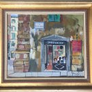 VINTAGE RODOLFO MARMA FIRENZE ABSTRACT PAINTING OIL ON CANVAS ITALIAN SIGNED
