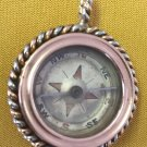 ANTIQUE COMPASS PENDANT SOLID 14K ROSE GOLD PLATINUM RUSSIAN IMPERIAL ORIGINAL
