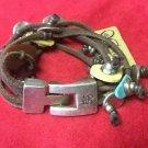 Uno De 50 Charms Silver Leather Bracelet