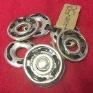 Uno De 50 Silver Leather Circle Bracelet