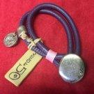 Uno De 50 Purple Leather Silver Charm Women Bracelet