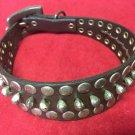Uno De 50 Buckle Charm Silver Dark Brown Leather Punk Choker Necklace