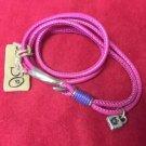 Uno De 50 Double Pink Leather Silver Charm Women Bracelet