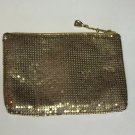 Vintage Whiting And Davis Clutch Mesh Gold Elegant Party Purse Coin Bag