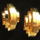 Antique Original Art Deco Gold Plated Clip On Earrings