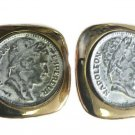 Vintage Gold Plated Clip On Earrings w/Napoleon