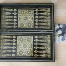 Vintage Judaica Persian Abalone Mother Of Pearl Inlayed Backgammon Chessboard